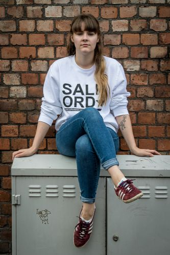 Click to view Salford Star White Sweatshirt