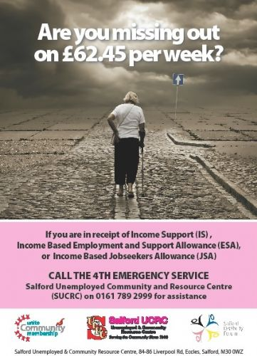 Click to view Salford UCRC Benefits Leaflet