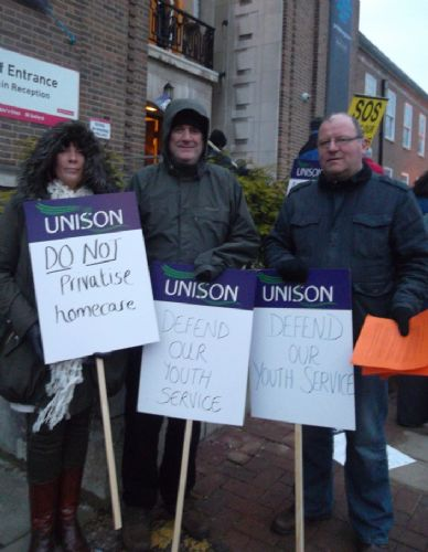 Click to view Salford City UNISON lobbies Labour councillors