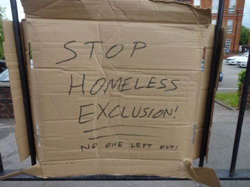 Click to view Salford University Homeless Conference Protest