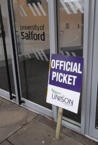 Click to view University of Salford Strike