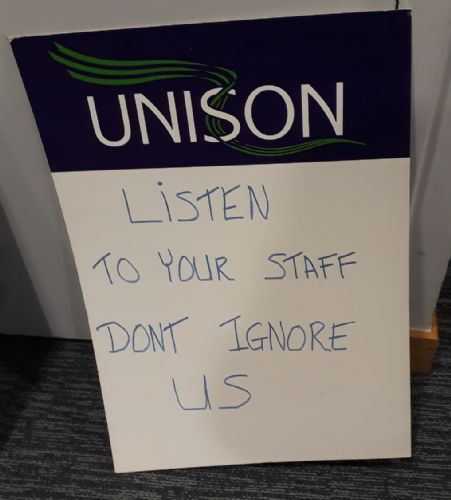 Click to view Salford City UNISON lobby of Salford Council
