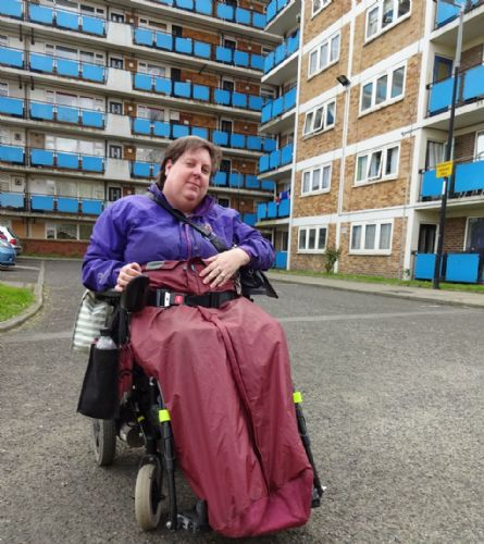 Click to view Salford disabled person living hell in Salix Homes flat