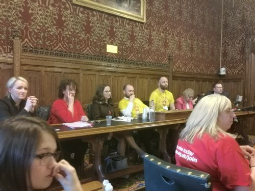 Click to view Save Salford Nurseries Campaign Hits Parliament