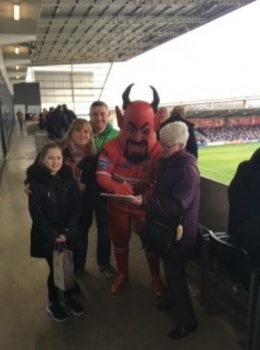 Click to view Salford Red Devil Backs Save The Grange Campaign