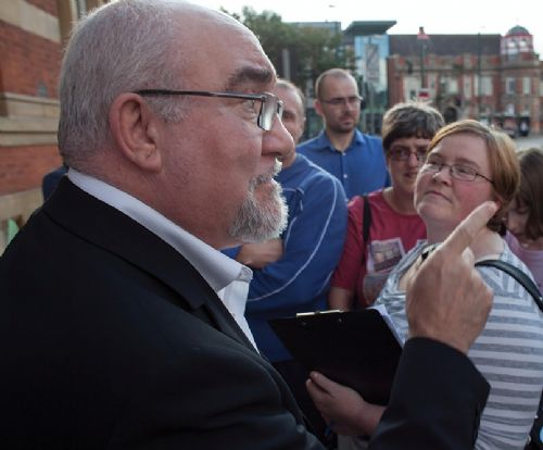 Click to view Salford City Mayor Ian Stewart Meets The Grange campaigners in Eccles