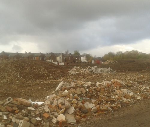 Click to view The Willows reduced to rubble December 2012
