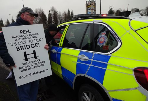 Click to view Trafford Centre Bridge Protest