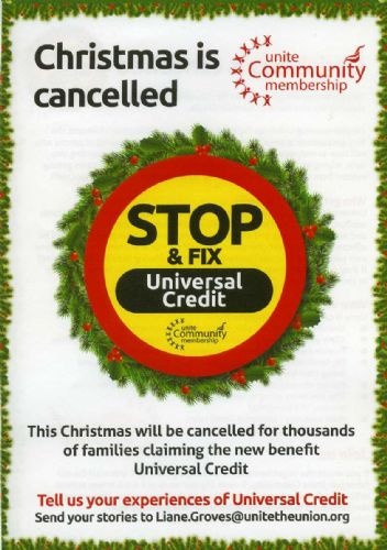 Click to view Eccles Job Centre Universal Credit Protest