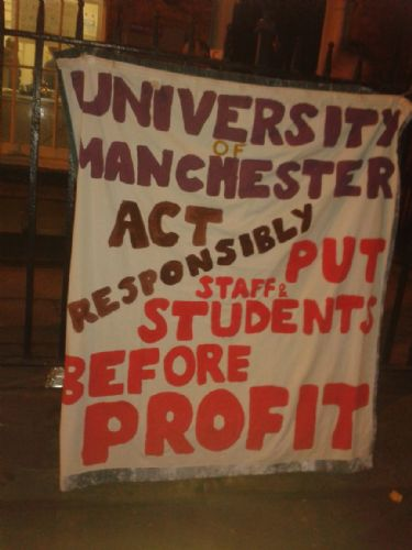 Click to view University of Manchester Occupied