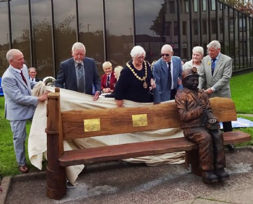 Click to view Salford Miners Memorial Unveiled at Swinton Civic Centre