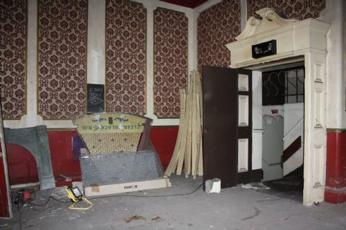Click to view Inside 'at risk' Victoria Theatre Lower Broughton Salford
