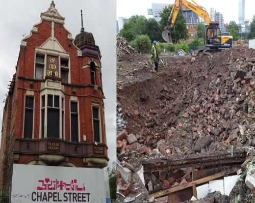 Click to view Ye Olde Nelson pub demolished