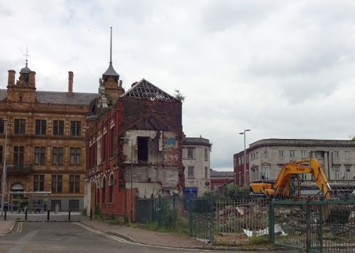 Click to view Ye Olde Nelson pub Salford bulldozed
