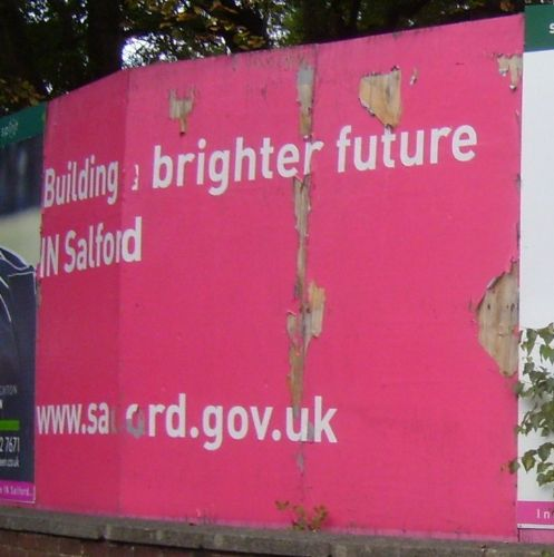 Click to view Brighter Future In Salford Sign