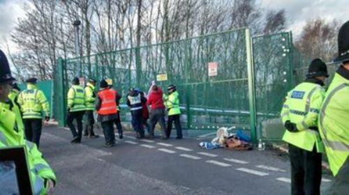 Click to view WHERE'S WALLY SUPERGLUES HERSELF TO IGAS GATES IN SALFORD