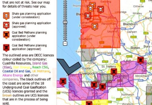 Click to view Fracking Map North West
