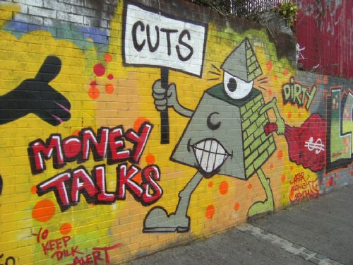 Click to view Cuts Graphic from Salford Graffiti Wall