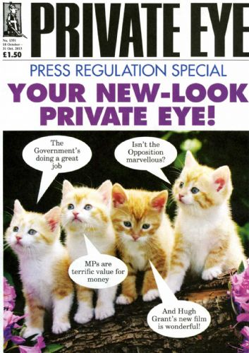 Click to view Private Eye Cover on Press Regulation