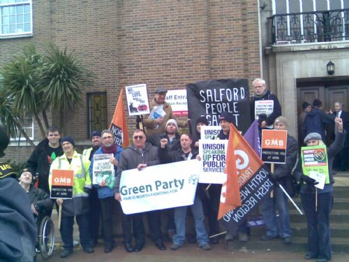 Click to view Salford Council Cuts Protest