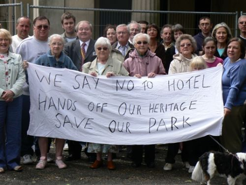 Click to view Protesters Outside Buile Hill Mansion
