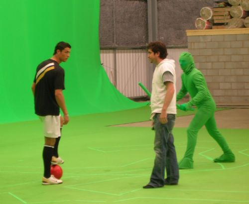 Click to view Ronaldo Filming In Little Hulton