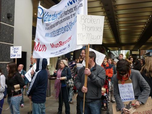 Click to view USUC and MUN Protest Manchester