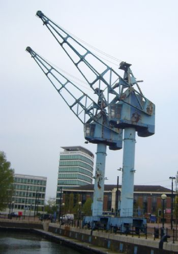 Click to view Salford Quays Cranes