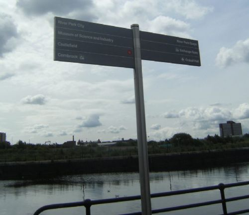 Click to view Manchester to Media City Sign