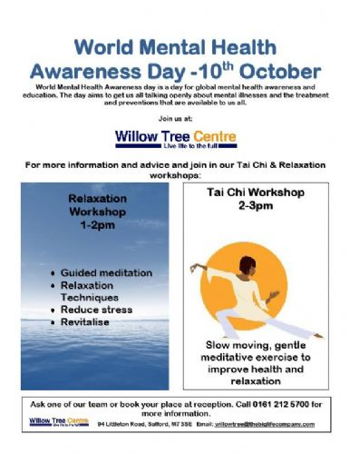 WEDNESDAY WORLD MENTAL HEALTH AWARENESS DAY FOR SALFORD ...
