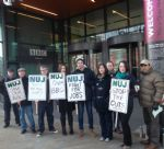 BBC STRIKE AT MEDIACITYUK SALFORD