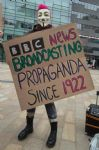 BBC bias protest at Media City