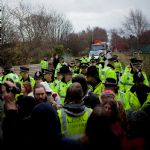 Barton Moss Anti Fracking Protest 13th December 2013