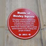 Salford Battle of Bexley Square Plaque