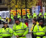 Falun Gong Protesters at Chinese President Visit to Manchester