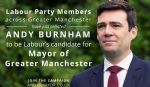 Andy Burnham Labour Party GM Mayor candidate