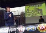 Andy Burnham at Manchester Anti-fracking rally