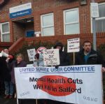 Salford Mental Health Cuts Protesters Take Fight To Greater Manchester West Trust HQ
