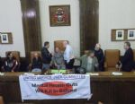 Salford Anti Cuts Protesters Occupy Salford Council Chamber