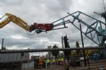 Salford Quays Cranes Trashed