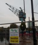Salford Quays Cranes Demolition