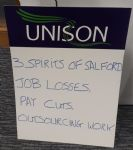 Salford City UNISON lobby of Salford Council