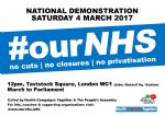 Save Our NHS Demo 4th March