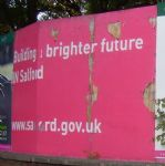 Brighter Future In Salford Sign